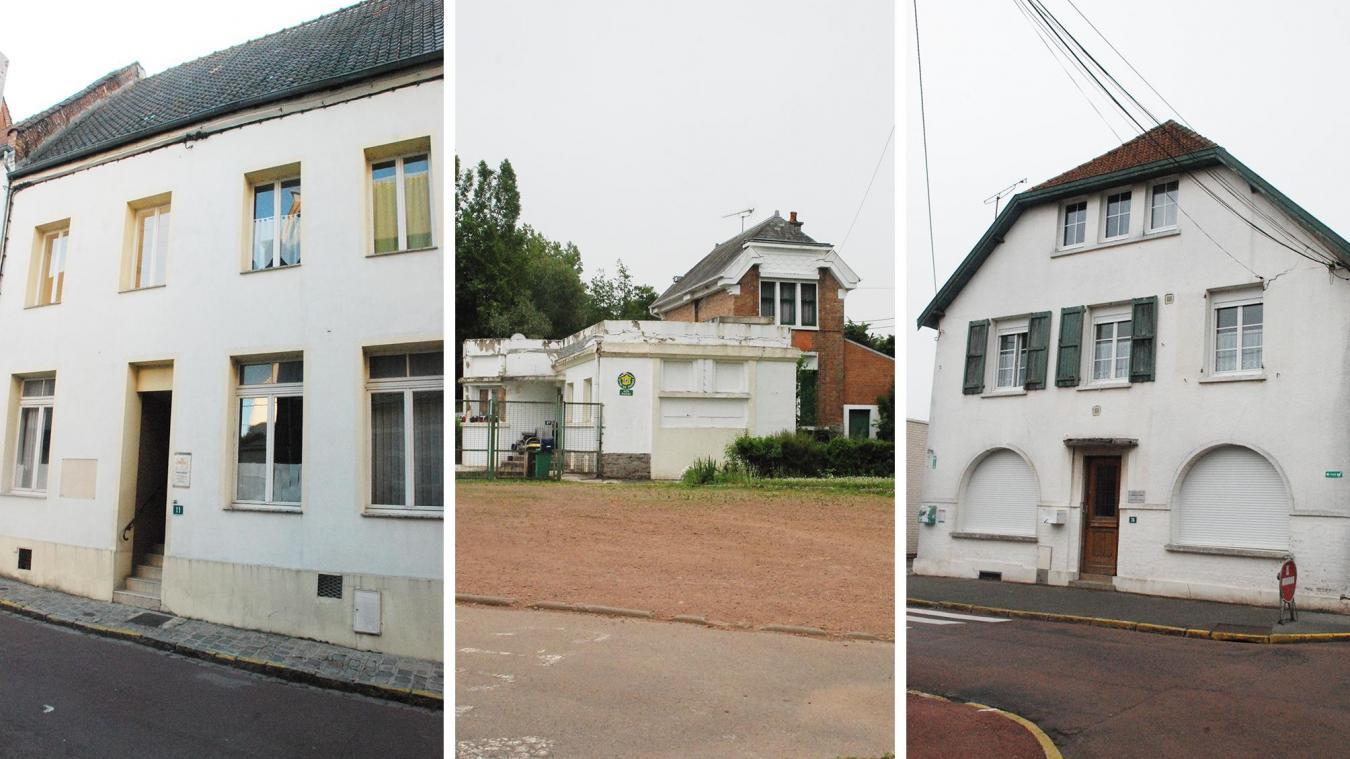 La maison des permanences, rue Henri Catteau, le gîte (anciens bains douches) de l'avenue de la piscine et l'ancienne inspection académique, rue du Pont-Major, sont à vendre.