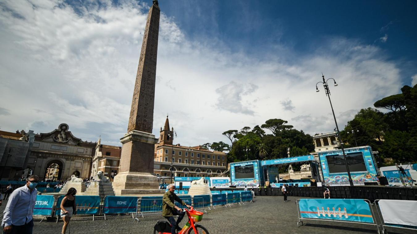 La Piazza del Popolo accueillera 2000 personnes ce vendredi. © Manon Cruz