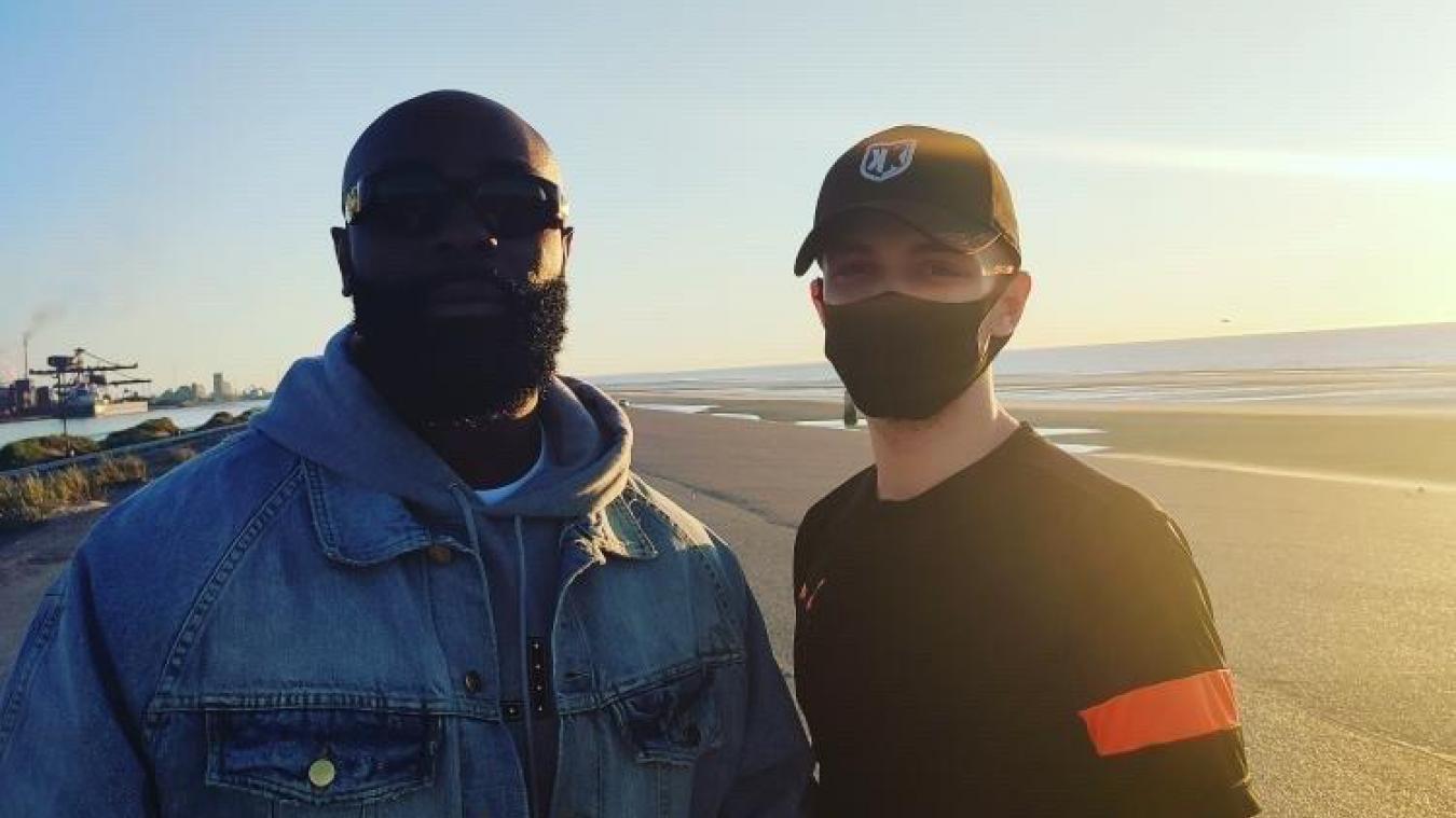 Le rappeur Kaaris de passage à Dunkerque pour le tournage de son clip.