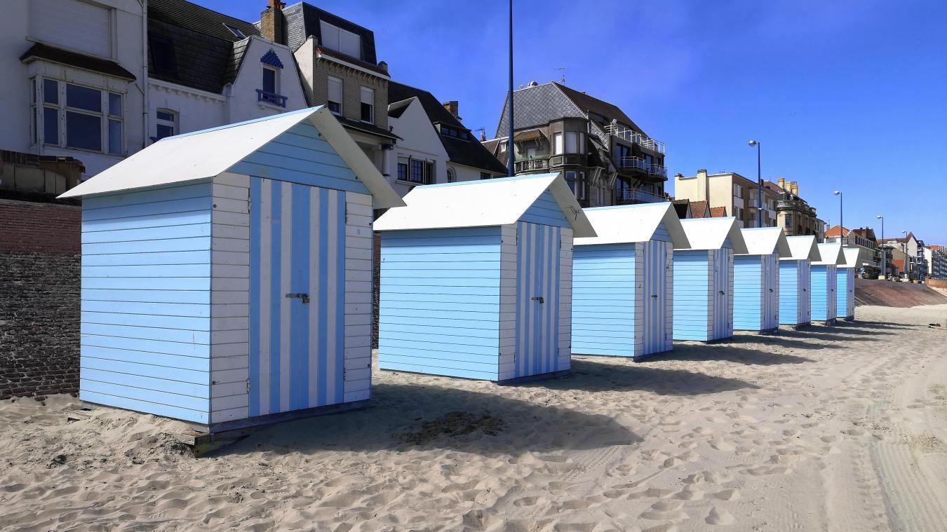Des cabines de plage sont à louer à Bray-Dunes pour l'été.