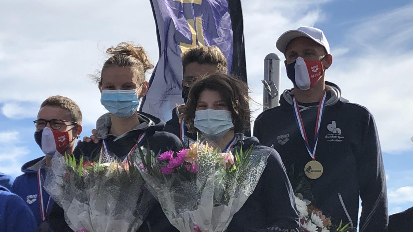 Mathilde Herlem, Elise Dohen, Jules Wallart et Marc-Antoine Olivier ont offert l'or à Dunkerque.