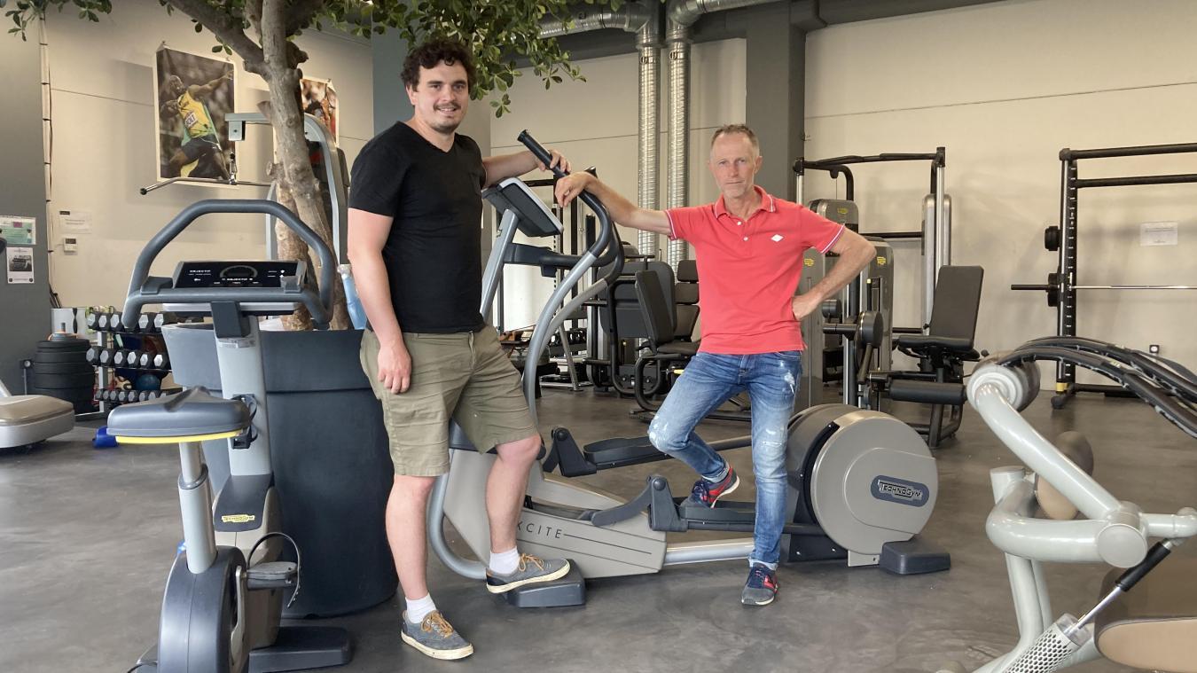 Charles-Antoine Fait et Olivier Dhoedt, deux professionnels de la santé qui misent beaucoup sur le concept Family Fitness santé.
