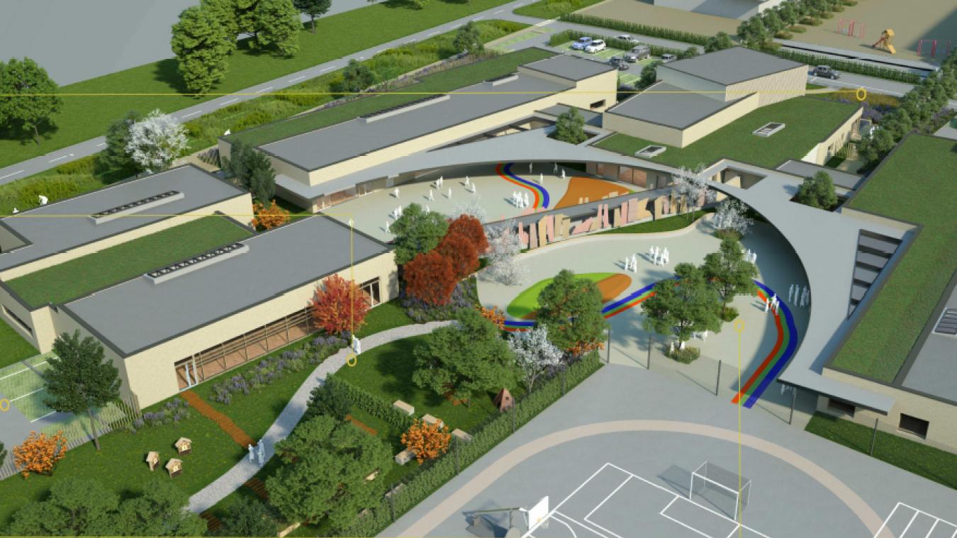 La commune a acquis 15ha pour construire un nouveau centre-village, dont un pôle scolaire de 2300m².