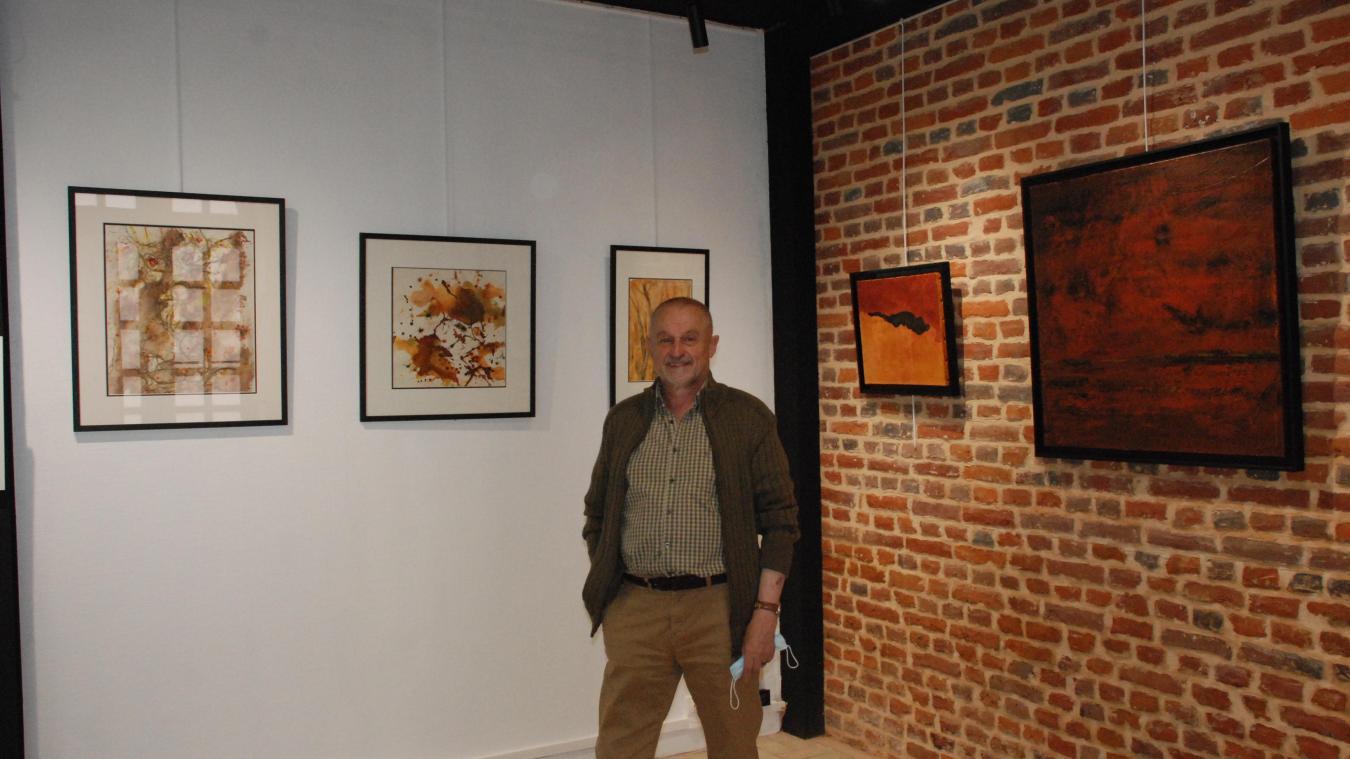 Bernard Troublé est intarissable sur sa passion pour l'expression, le ressenti et la matière.