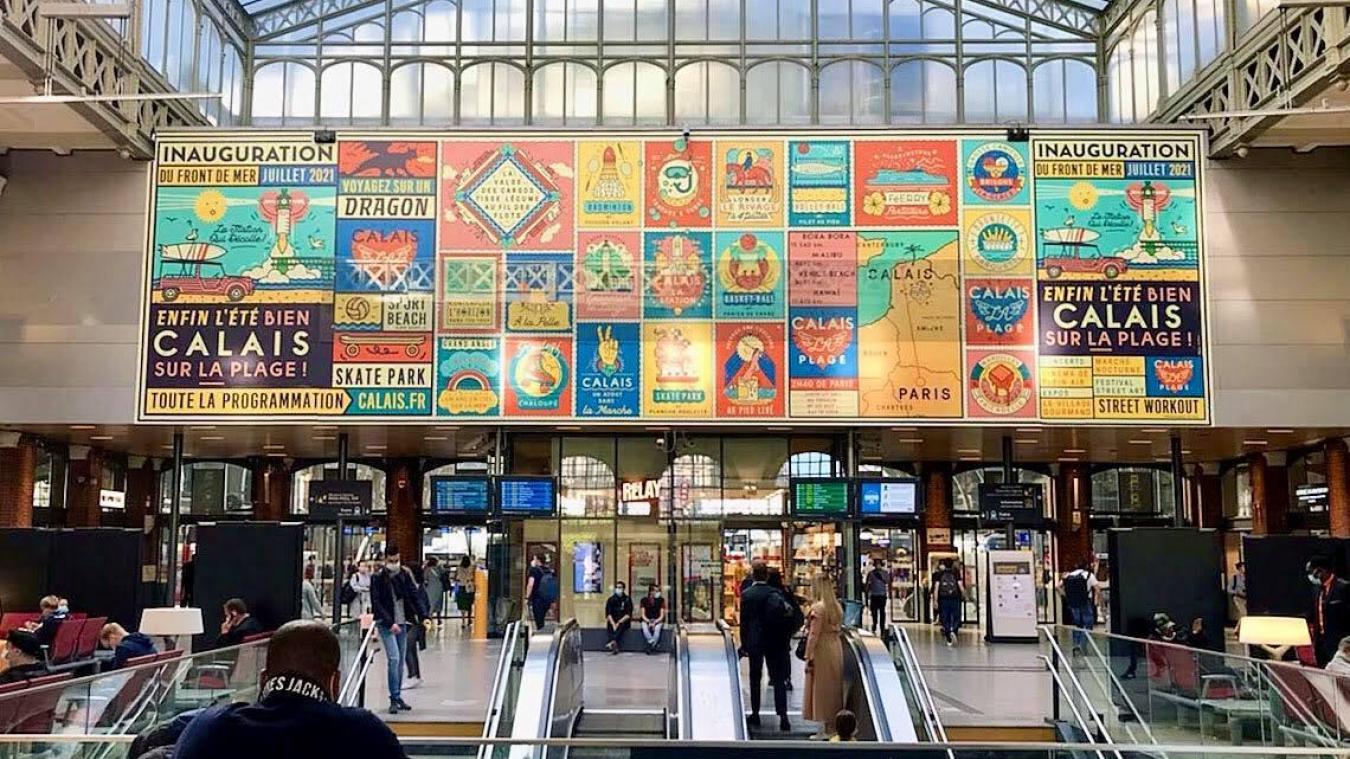 Calais s'affiche dans les gares à Lille et à Paris