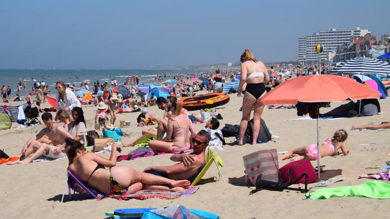 Des airs de vacances sur la plage de Malo en ce dimanche d'été.