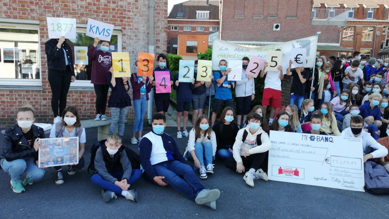 Les élèves du collège Immaculée à Bailleul ont couru début avril au profit de l'autisme. Ils ont récolté plus de 13000 euros de dons.