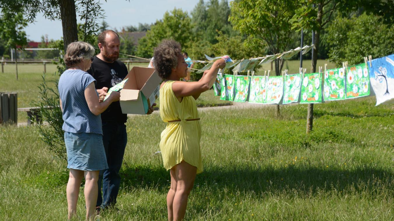Le collectif Clim'Actif invitait les habitants à participer à l'opération internationale La grande lessive