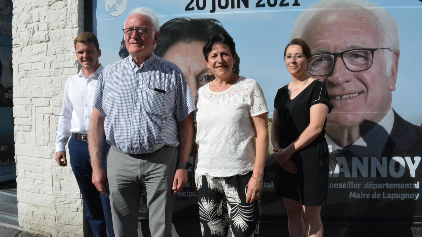 Benjamin Lass, Alain Delannoy, Nathalie Delbart et Béatrice Delvincourt.