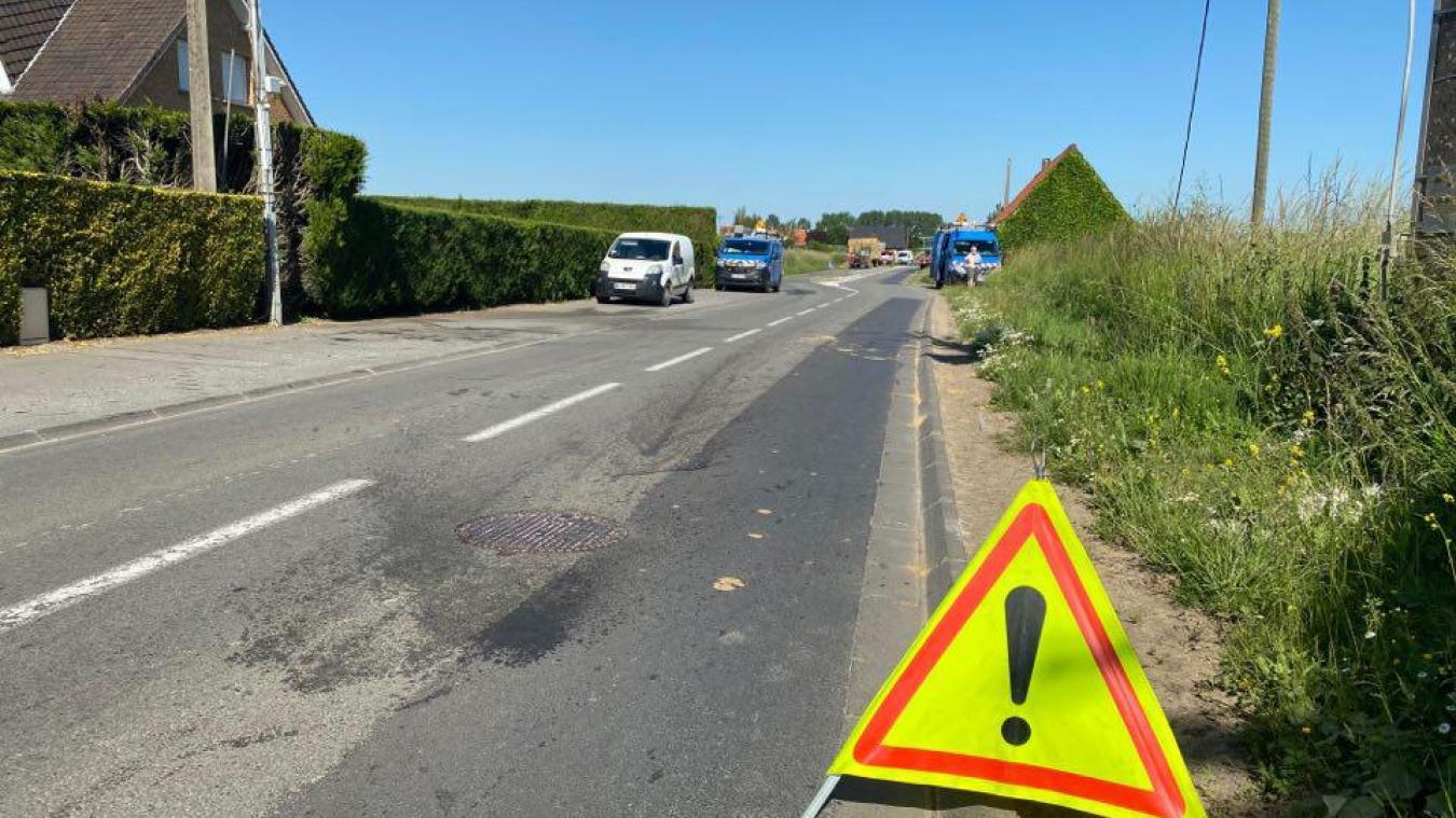 Un cable a été arraché à Hondeghem sur la D61.