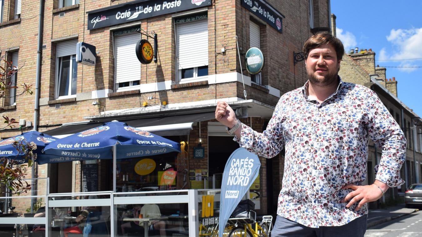 Édouard Coulon, heureux nouveau propriétaire du Café de la Poste, depuis lundi.