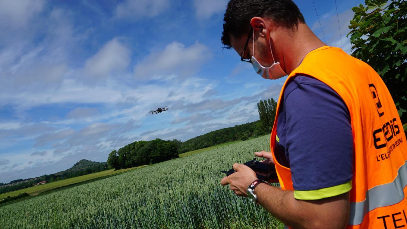 Une inspection pédestre d'une heure peut être réglée en dix minutes grâce à un drone. Elle permet de mieux anticiper les interventions nécessaires.