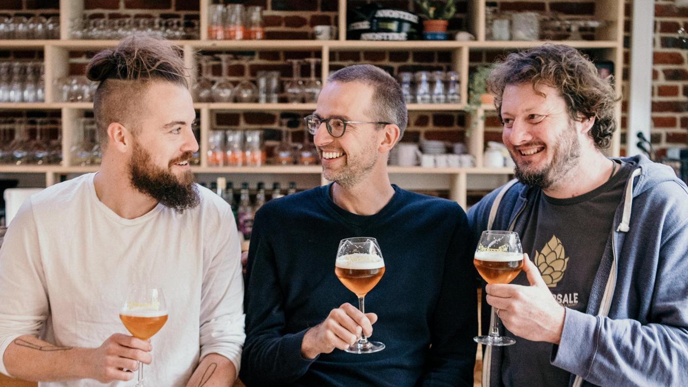 Florent Ladeyn, Mathieu Lesenne et Olivier Duthoit ont l'habitude de collaborer ensemble depuis plusieurs années. (Photo : Julien Briche)