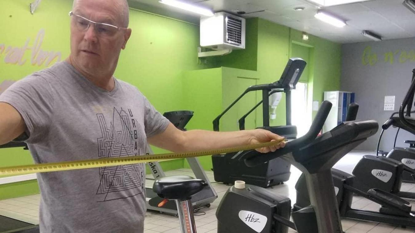 Dominique Bonnaire, Air'Fitness, est très attentif à la sécurité sanitaire des lieux. Il ne laisse rien au hasard.