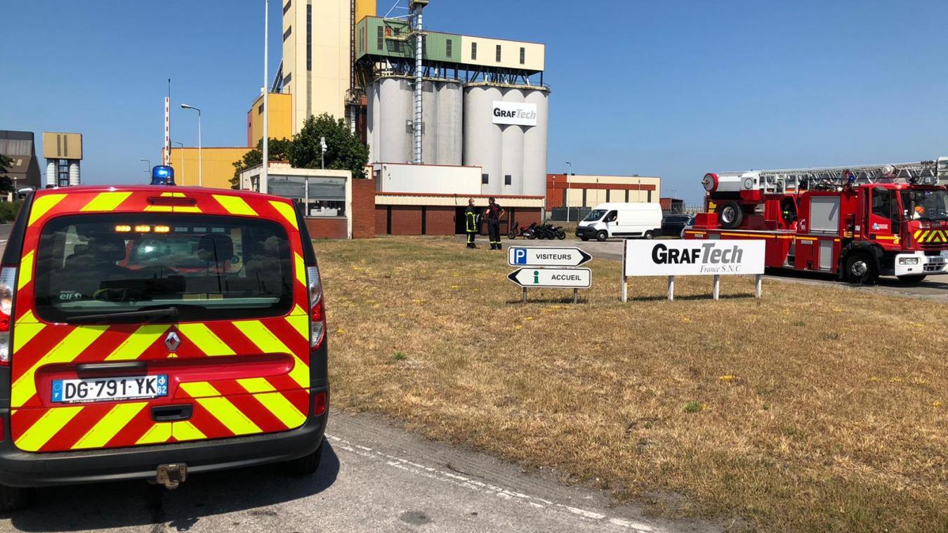 Panache de fumée à Graftech, les pompiers en intervention