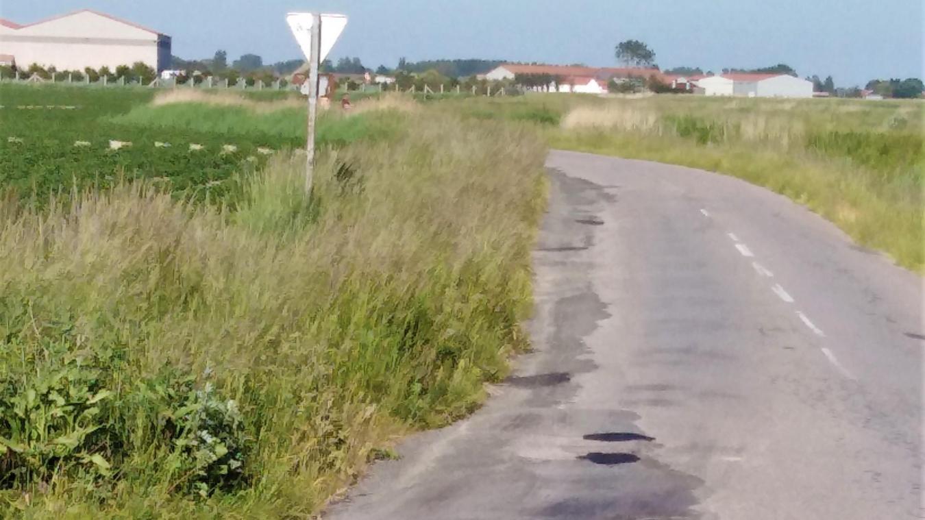 Les nids de poule de la route de la Rivière d'Oye ont été rebouchés provisoirement.