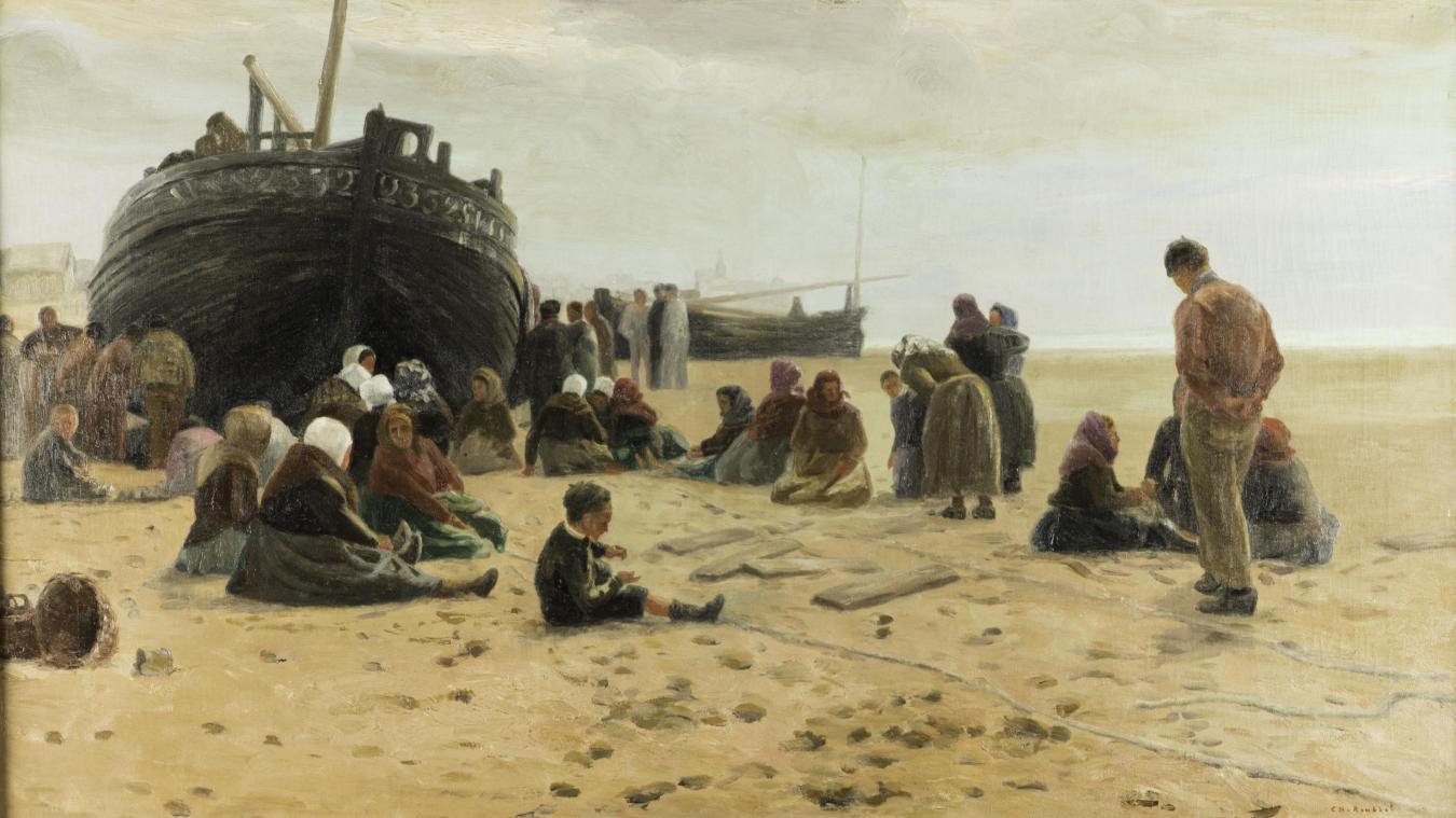 Charles Roussel, En attendant le retour (Collections départementales du Pas-de-Calais, © Jérôme Pouille).