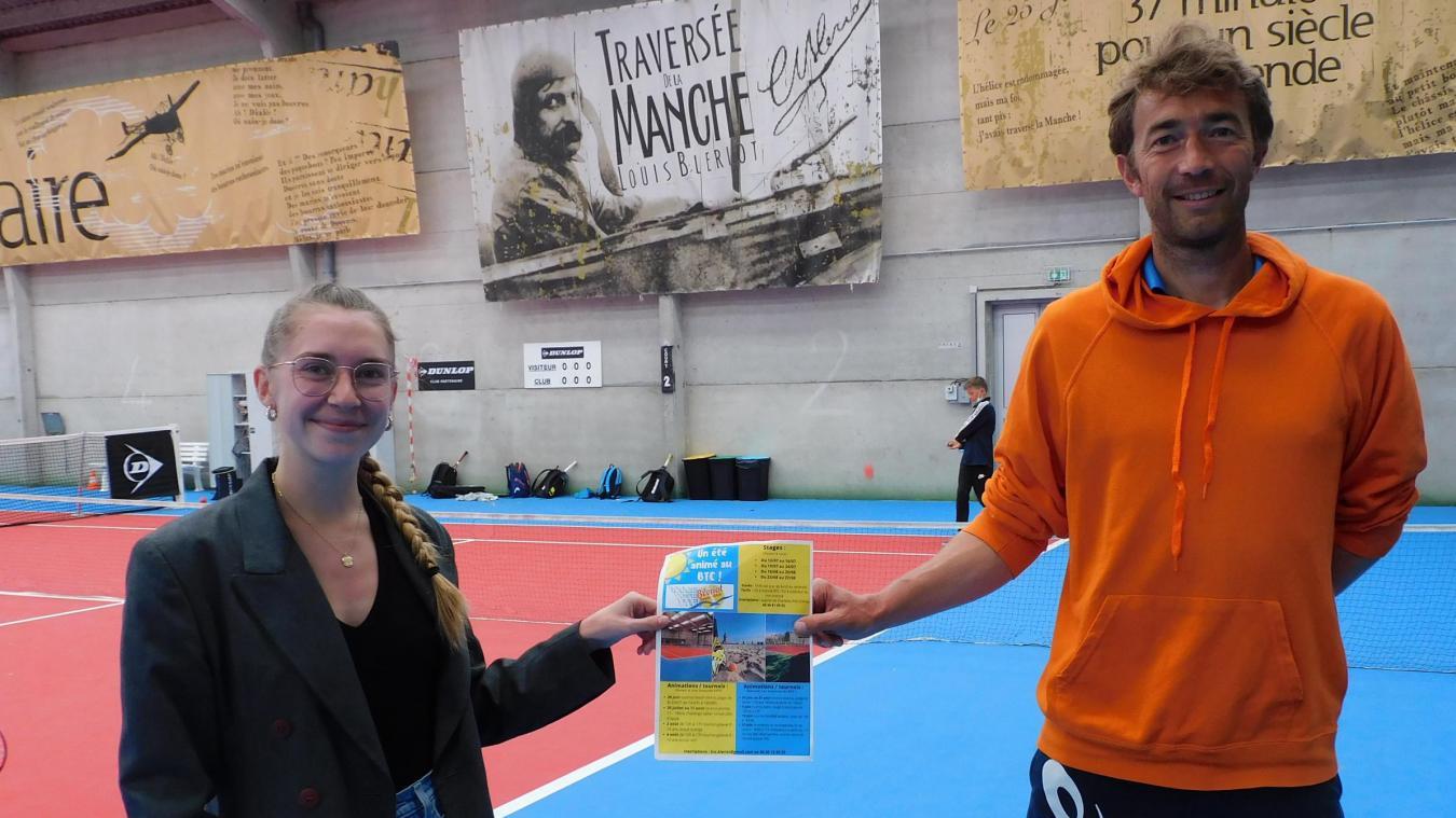 Clémence Herkt et Vincent Degrave, directeur sportif, ont présenté le programme estival du BTC.