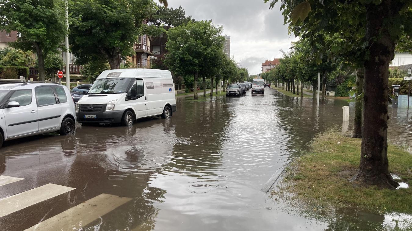 Des pluies orageuses ont provoqués des inondations ce vendredi 18 juin, au Touquet-Paris-Plage, notamment au niveau du boulevard Daloz.