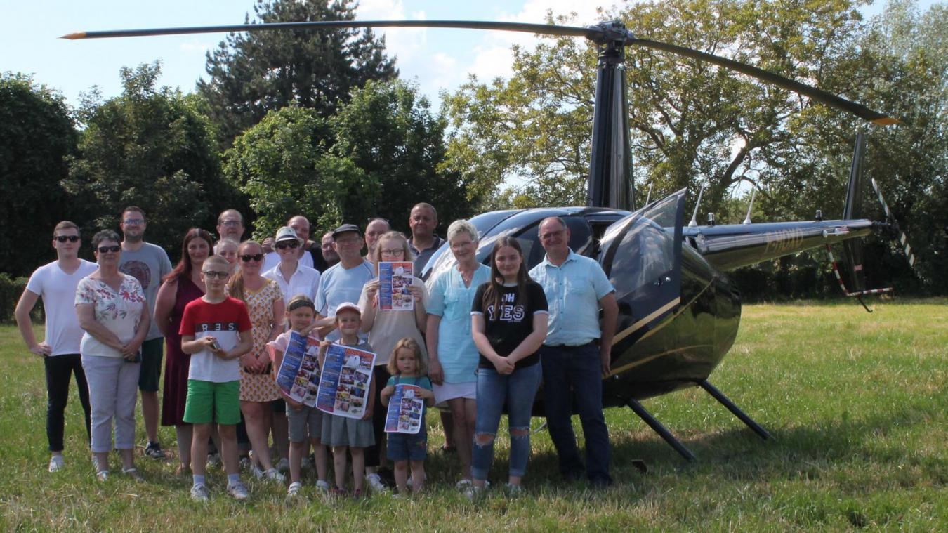 Les 10 et 11 juillet, il sera possible de monter dans cet hélicoptère.