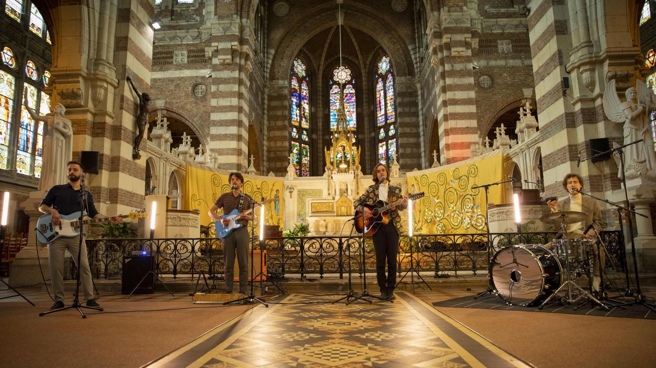 Béthune : Space Alligators enregistre un live à l'église Saint-Vaast