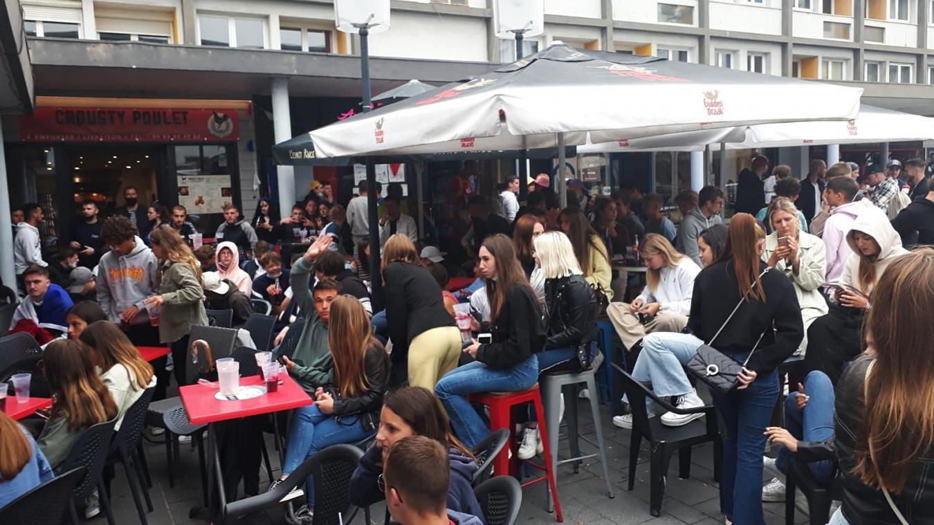 Les supporters étaient nombreux rue de la Mer pendant le match.