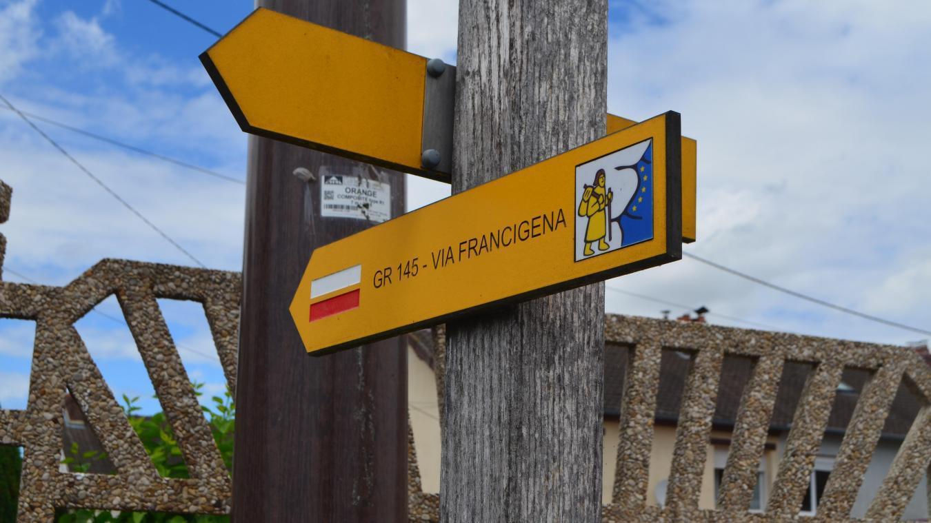 Le pèlerinage va de Canterbory (Royaume-Uni) jusqu'à Rome (Italie) et traverse la France.