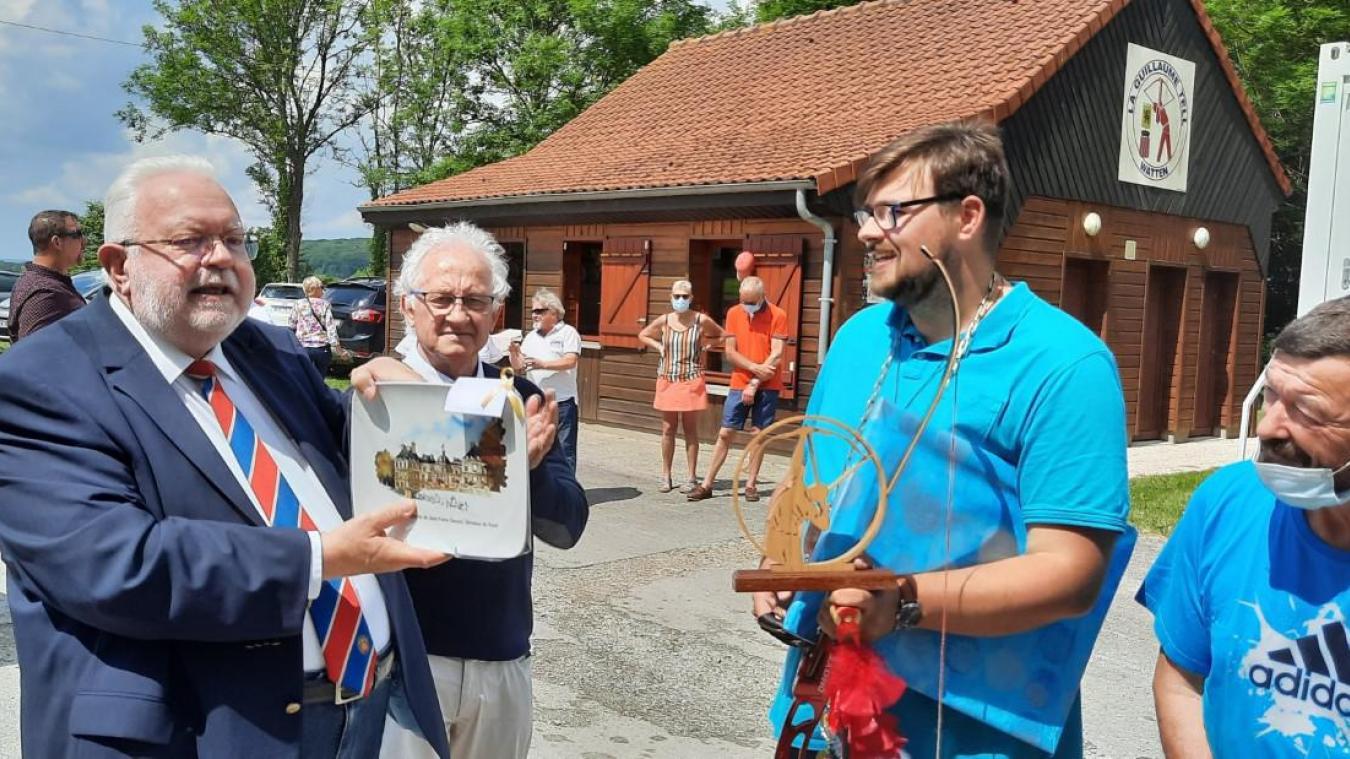 Gauthier Vanvincq a fait tomber l'oiseau royal au bout de la 97e flèche: un record pour la société wattenais.