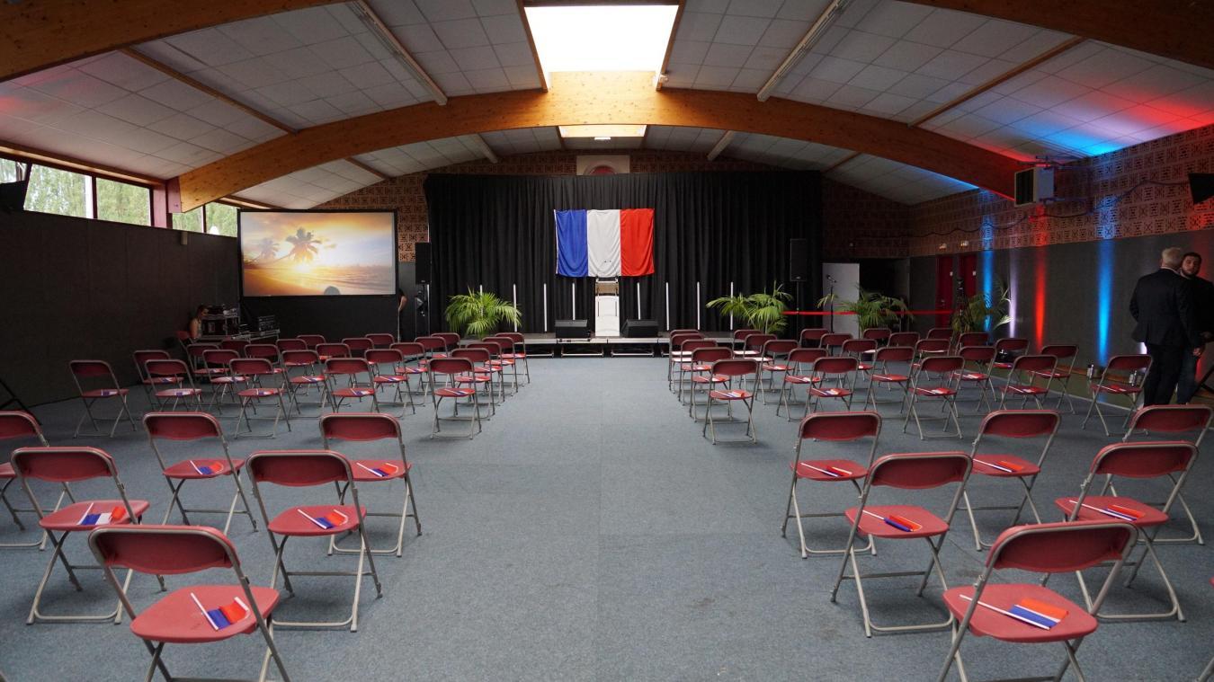 Ce soir, Marine Le Pen partagera la scène du complexe sportif avec Sébastien Chenu, la tête de liste RN pour les régionales dans les Hauts-de-France.