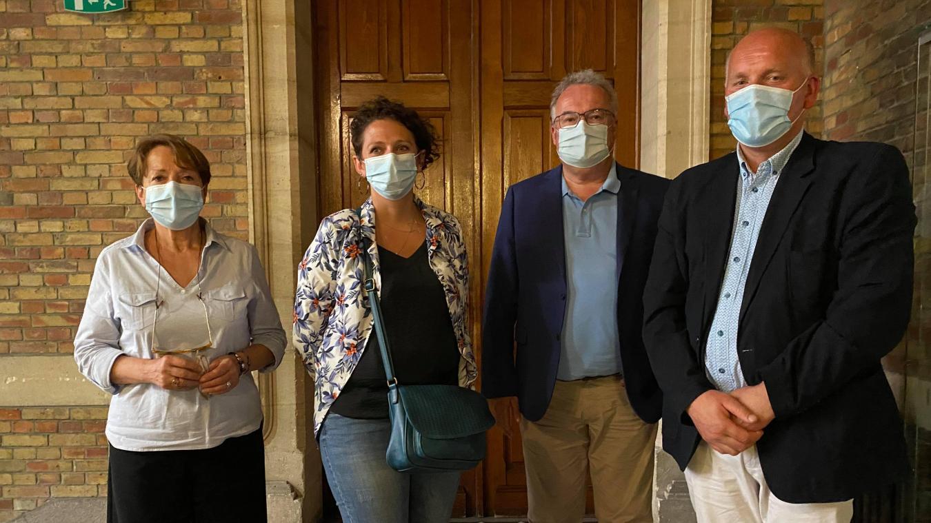 Les candidats de la droite dans le canton de Bailleul rejoints par le conseiller départemental sortant, Jean-Marc Gosset.