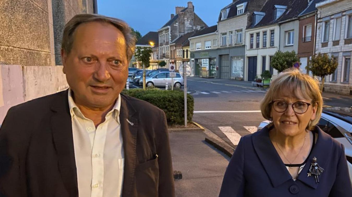 René Hocq et Carole Dubois arrivent en tête dans le canton de Lillers.