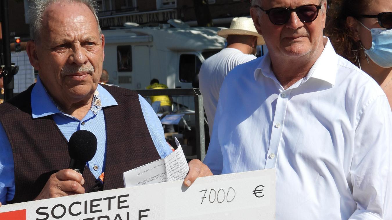 Le don a pu être remis à l'occasion de la la manifestation Tous acteurs pour Dunkerque.