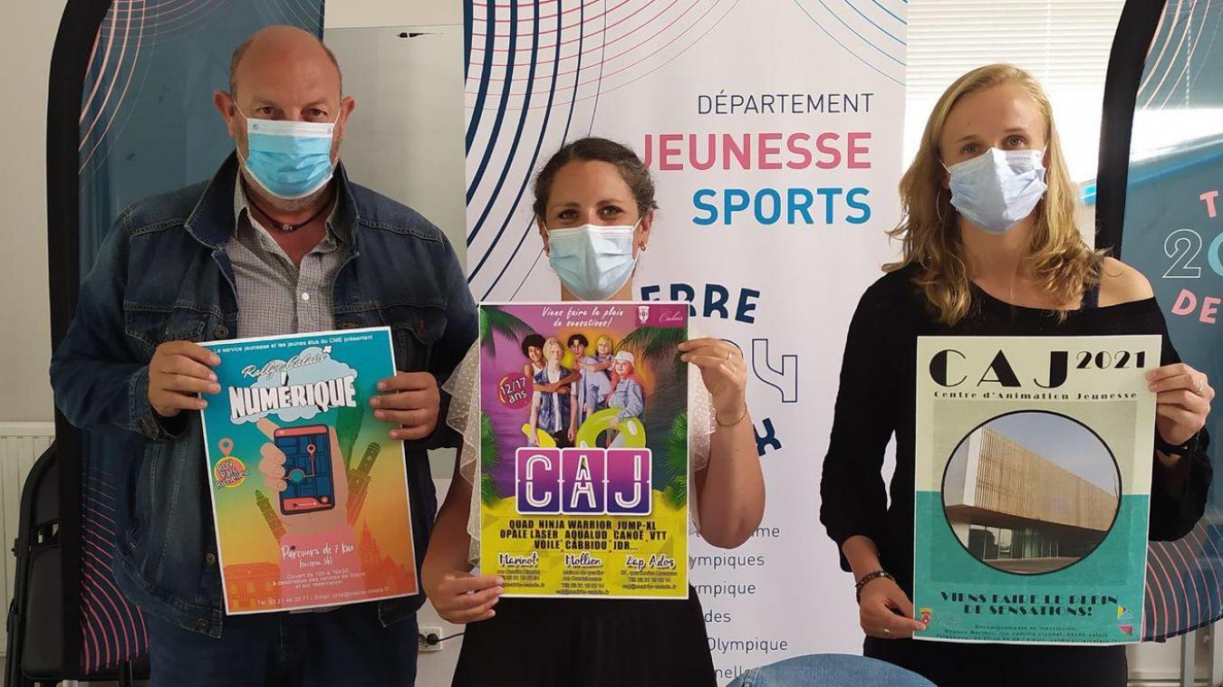 Jean-François Depresle, Maité Mulot-Friscourt et Amélie Bouin ont présenté le programme de l'été.