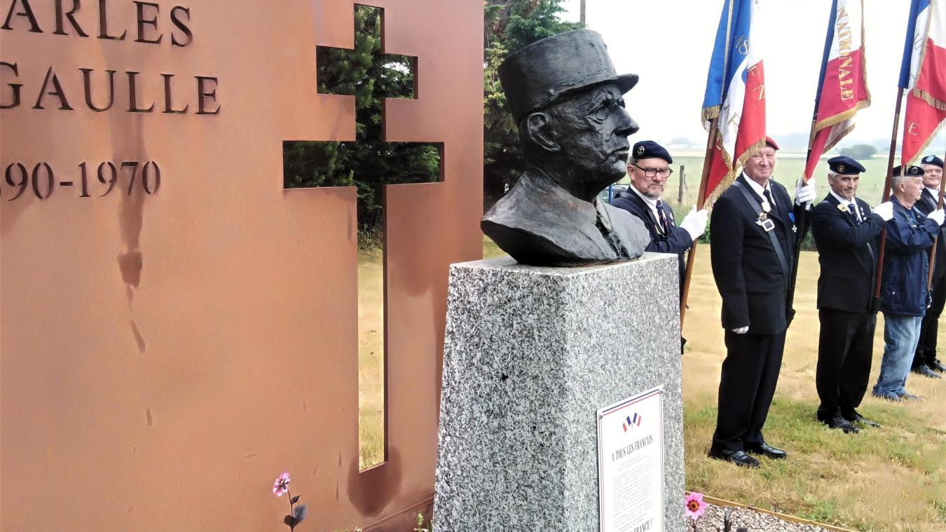 La stèle du Général de Gaulle a été dévoilée au début de la commémoration.