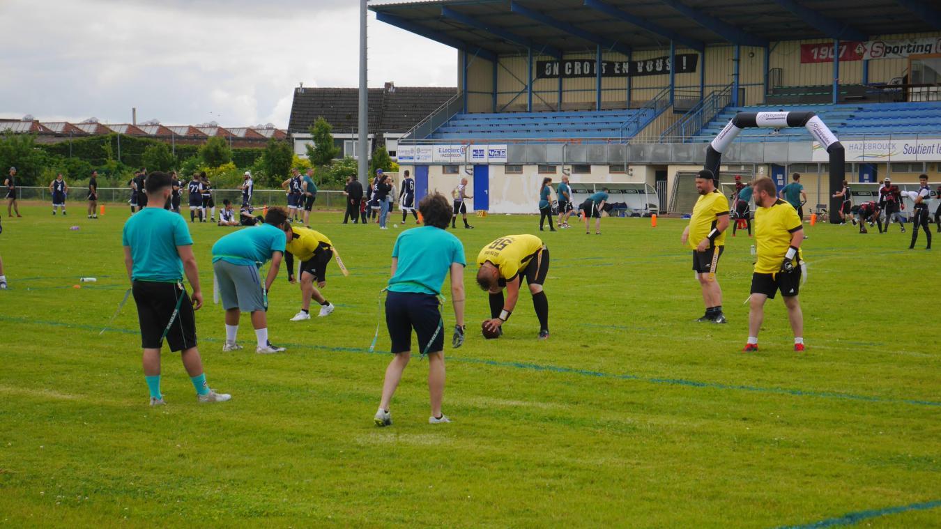 L'événement était géré par les Wildcats d'Hazebrouck (en jaune).