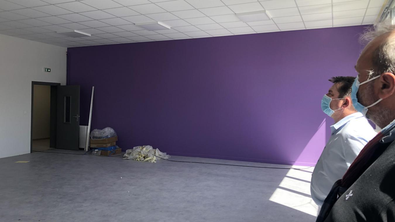 Le nouveau site comprend cinq salles de classe, une salle de motricité et une salle de sieste.