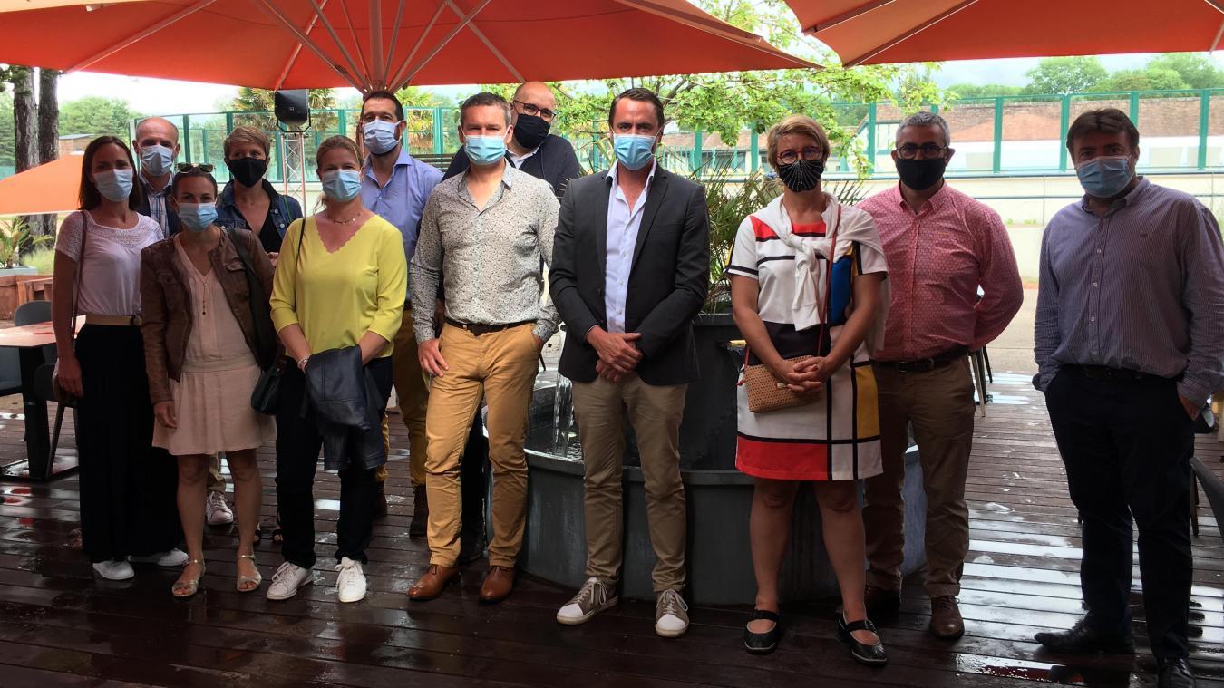Le président Manuel Agard et les membres du CJD se sont retrouvés au restaurant l'Avantage au Touquet pour une réunion de travail.