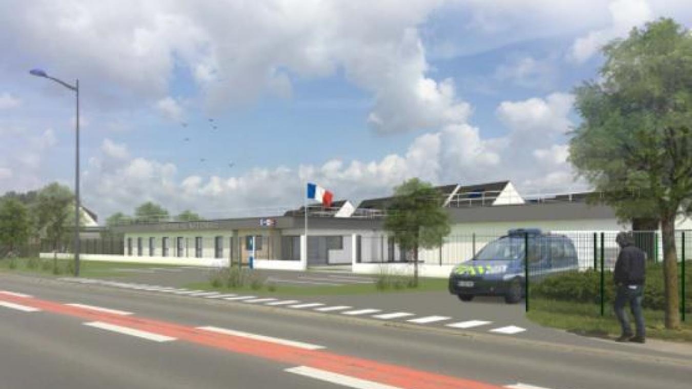 La nouvelle gendarmerie sera située route de Péronne.