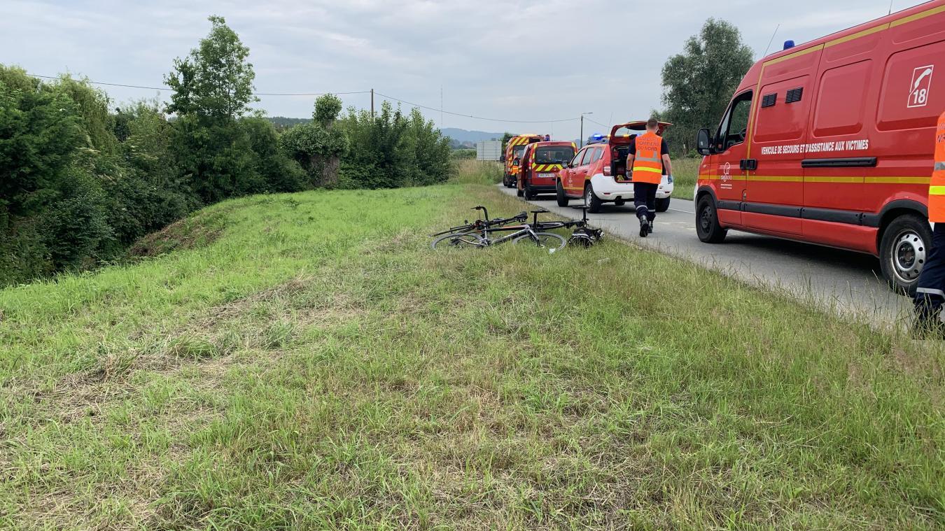Deux cyclistes blessés dans une chute entre Berthen et Saint-Jans-Cappel