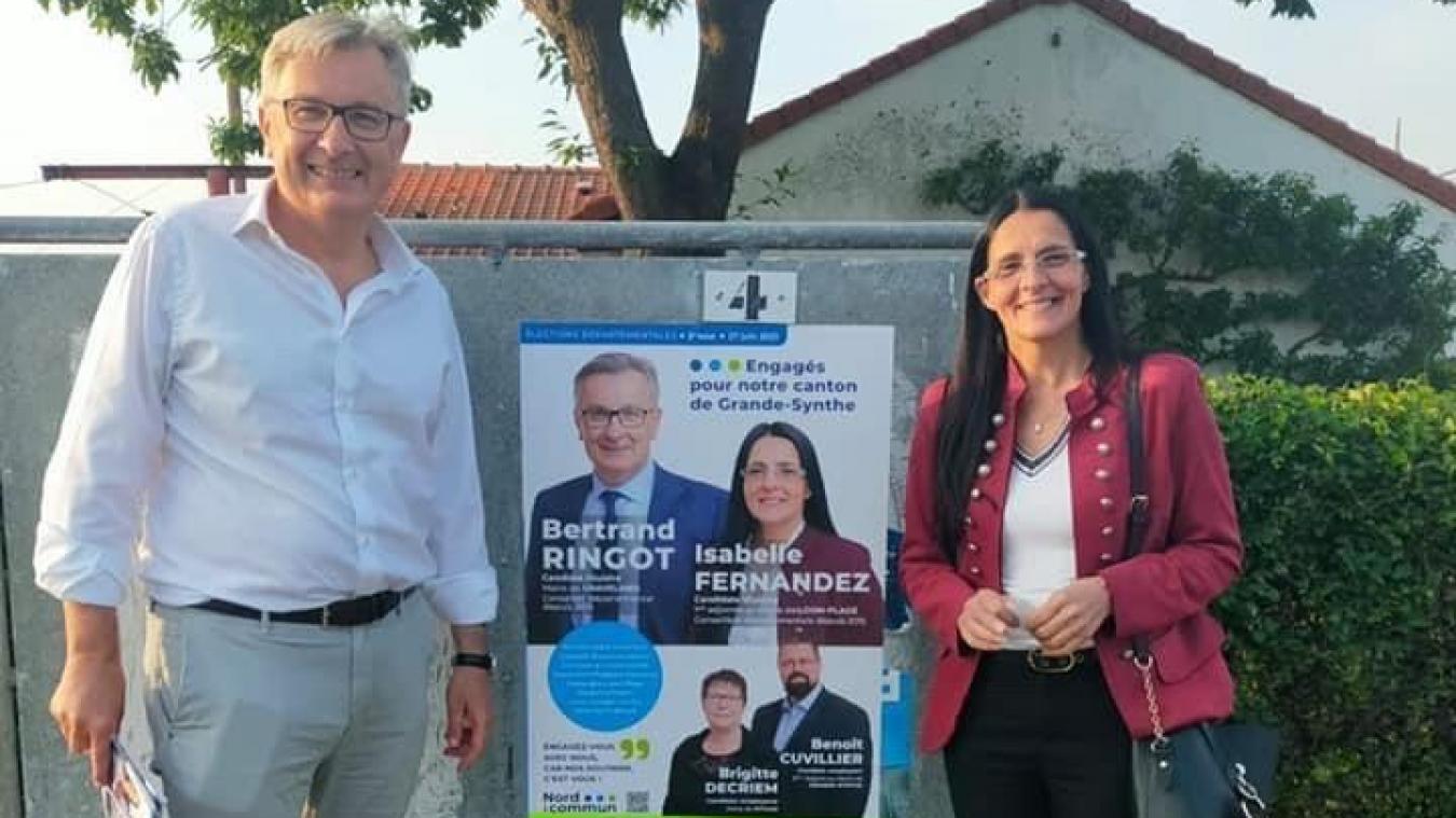 Bertrand Ringot et Isabelle Fernandez devraient retrouver leur siège au Département.