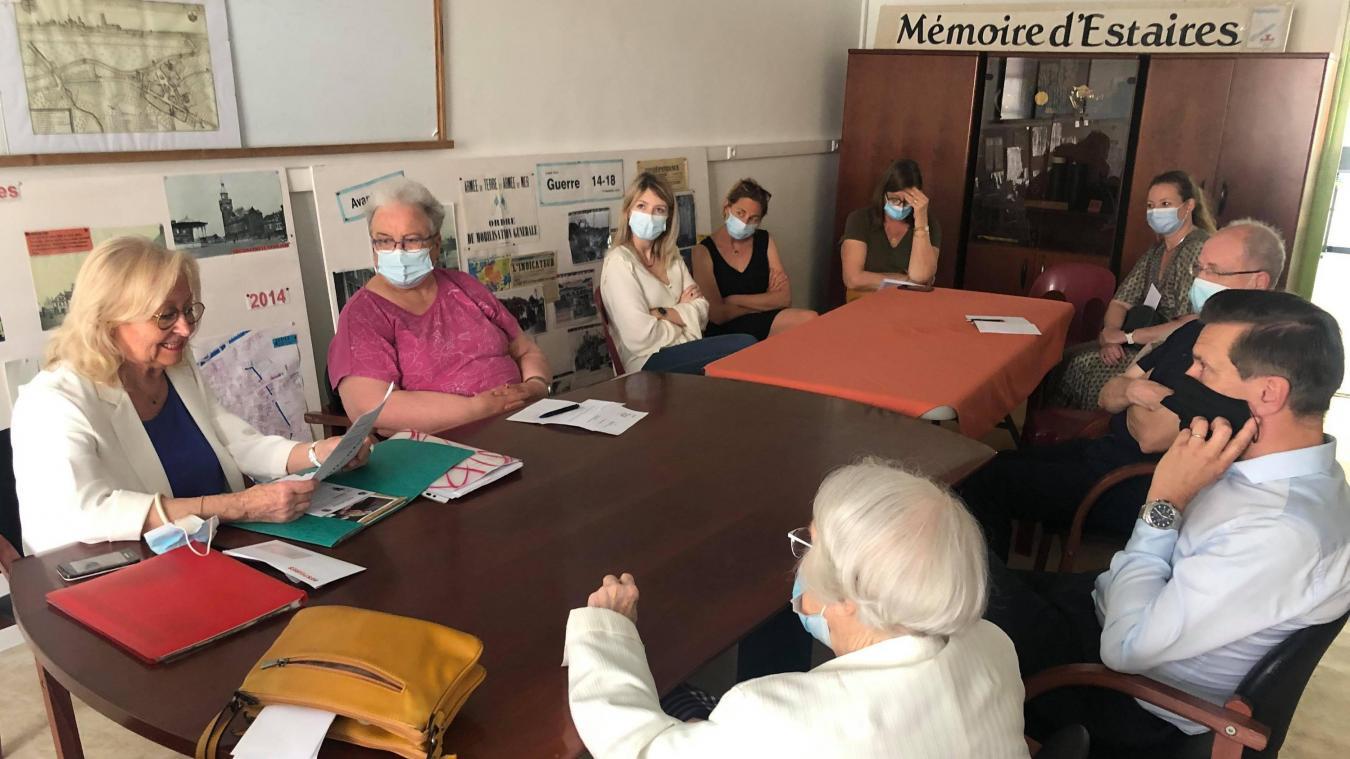 Les membres de l'association Mémoire d'Estaires se sont réunis lors de l'assemblée générale.