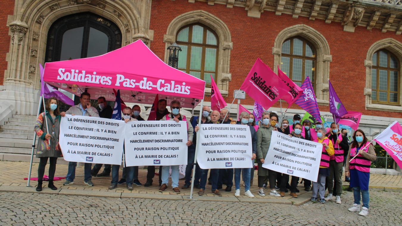 L'union locale Solidaires profité de cette mobilisation pour faire passer un second message.