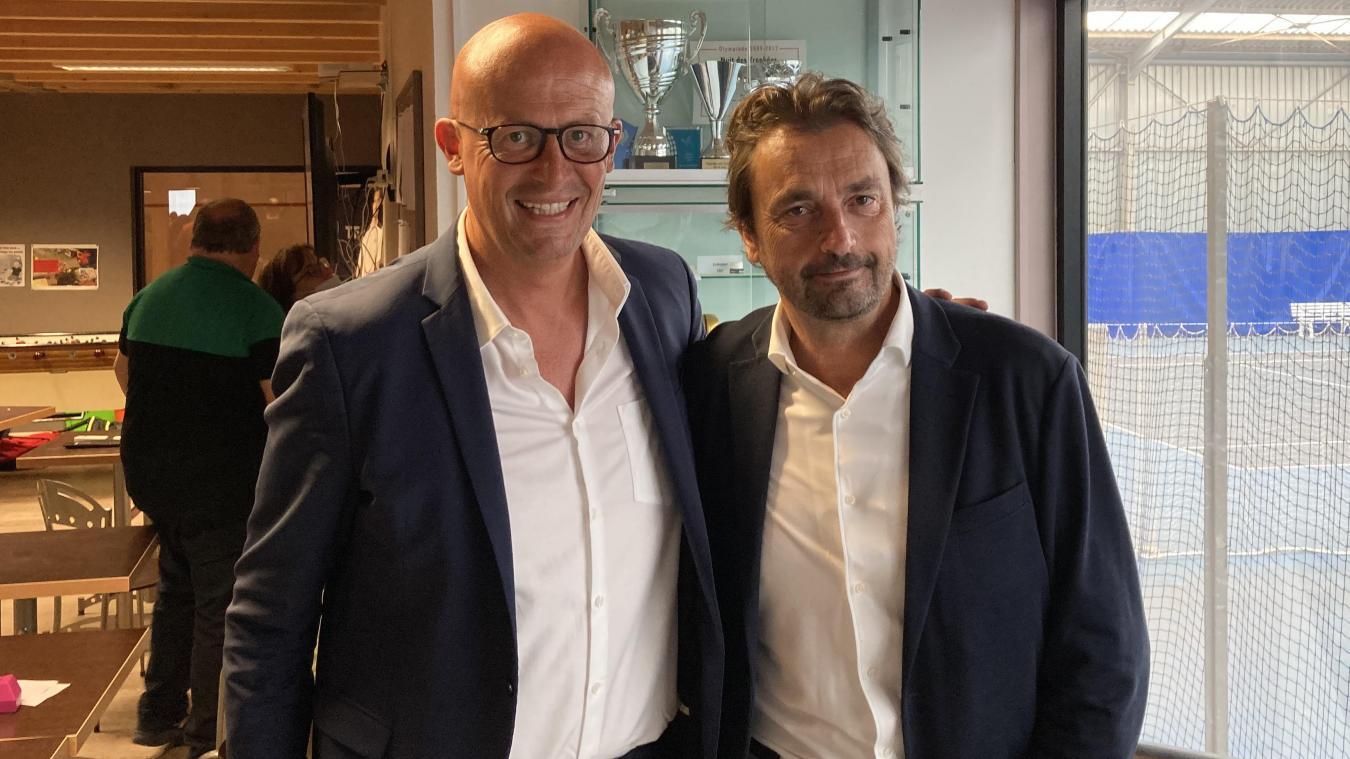 Henri Leconte a rendu visite à son ami, Franck Paque, en passant tout le week-end à Boulogne-sur-Mer.