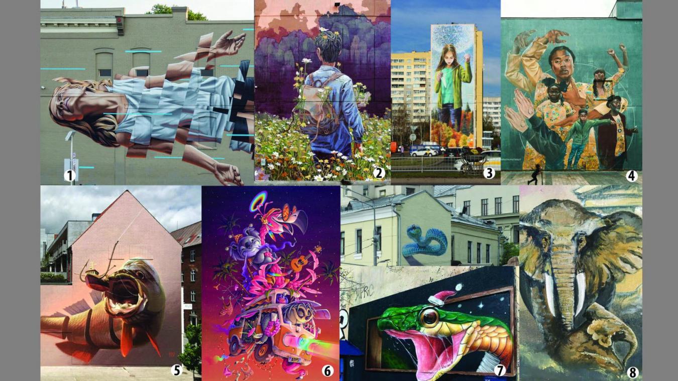 Huit artistes internationaux et quatre Boulonnais ont été sélectionnés par la Ville de Boulogne-sur-Mer pour transfigurer différents murs grisâtres de la cité maritime.