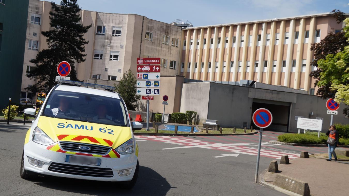 Le patient covid positif est hospitalisé au centre hospitalier de Lens.