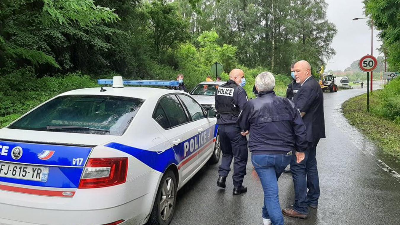 La police s'est rendue sur place, mercredi 30 juin.