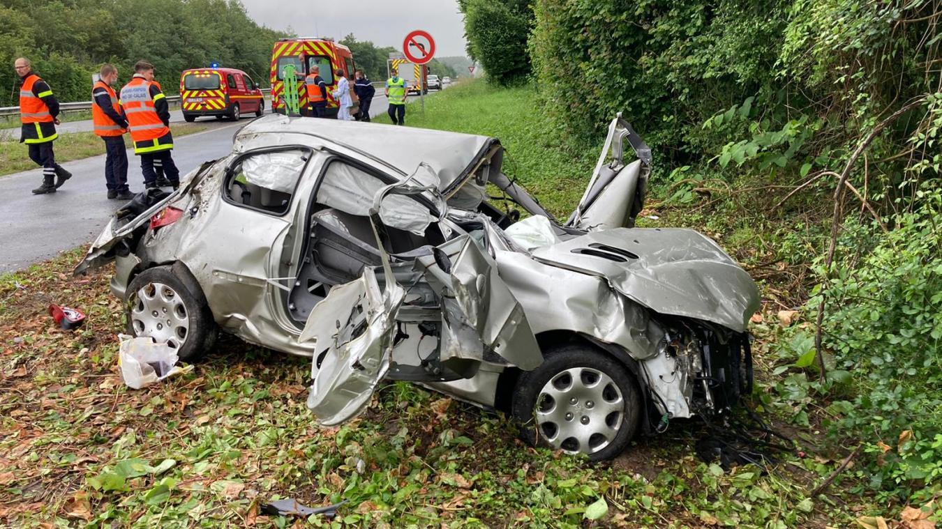 L'accident s'est produit sur la RN42 à hauteur de la Capelle.