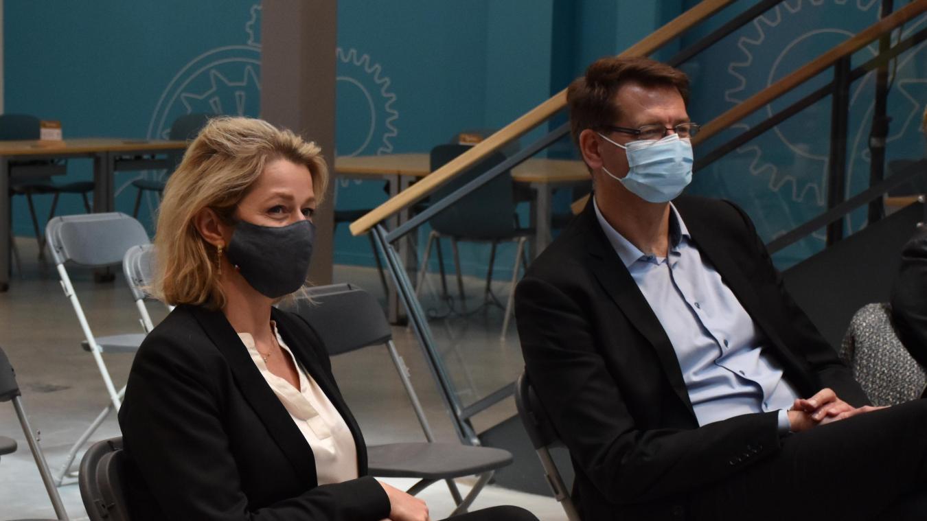 Lundi 10 mai, Barbara Pompili, ministre de la Transition écologique, est venue à la Turbine de Dunkerque pour suivre la présentation du projet Epiflex.