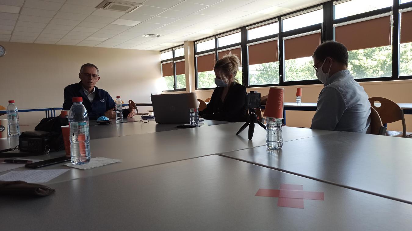 Carlos Tavares, PDG du groupe Stellantis, a évoqué l'avenir de la Française de mécanique et la future gigafactory.