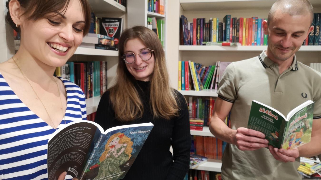 Sophie Selliez, Léa de la librairie Alpha B à Béthune et Yoann Blanquart.